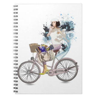 Bike riding to the beach note book