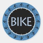Bike Round Stickers