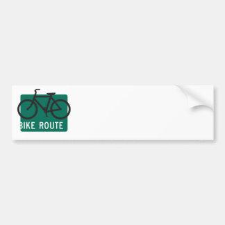 Bike Route-Blk Bumper Sticker