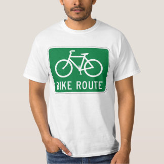 Bike Route Cycling Path Bicycle Lane Road Sign T-Shirt