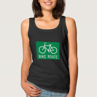 Bike Route road sign top
