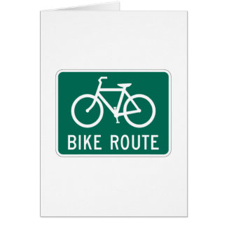Bike Route Sign Card