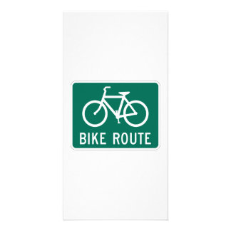 Bike Route Sign Photo Cards