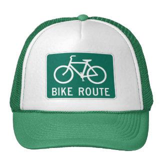 Bike Route Sign Trucker Hat