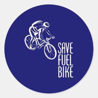 Bike, Save Fuel Classic Round Sticker