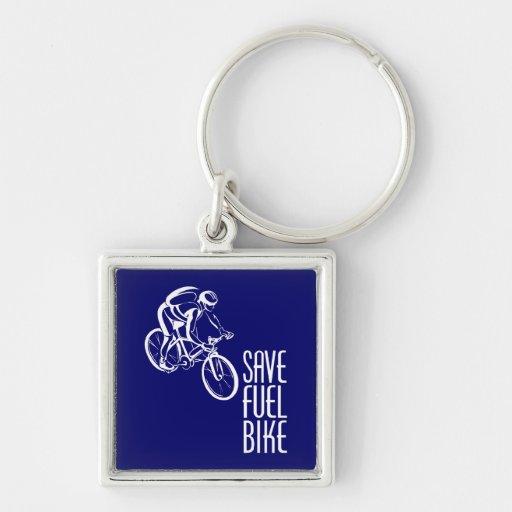 Bike, Save Fuel Keychain
