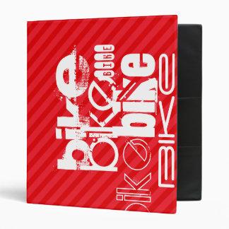 Bike; Scarlet Red Stripes. Vinyl Binders