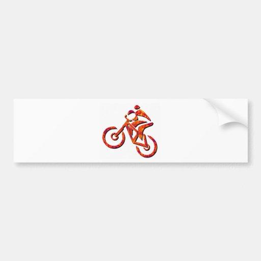 Bike Scorching Day Car Bumper Sticker