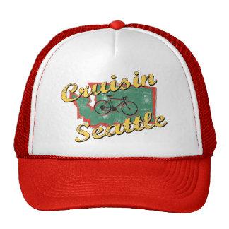 Bike Seattle Cruise Washington Mesh Hats