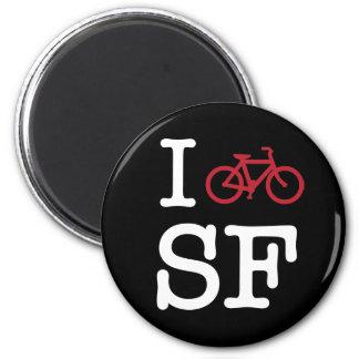 Bike SF (el biking del personalizado SF) Imán Redondo 5 Cm