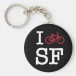 Bike SF (el biking del personalizado SF) Llavero Personalizado