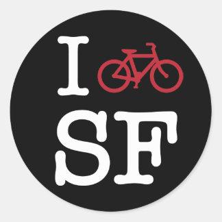 Bike SF (el biking del personalizado SF) Pegatina Redonda