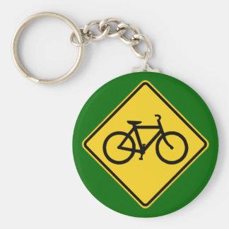 bike sign keychain