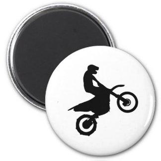Bike Silhouette 2 Inch Round Magnet