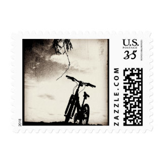 Bike silhouette postage