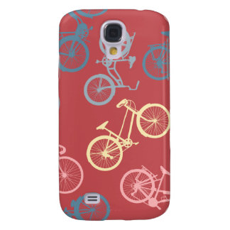 Bike silhouettes pattern galaxy s4 cover