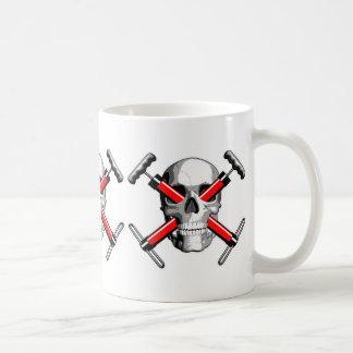 Bike Skull Classic White Coffee Mug