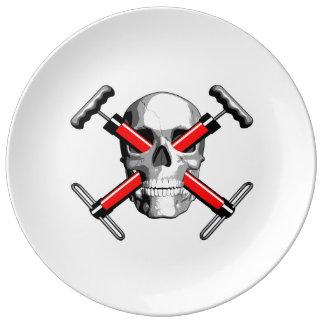 Bike Skull Porcelain Plates