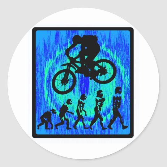 Bike Soul Riding Classic Round Sticker