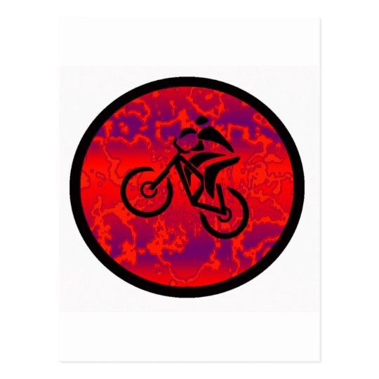 Bike Space Age Postcard