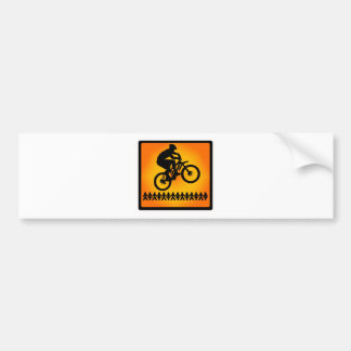 bike Star Shoot Bumper Sticker