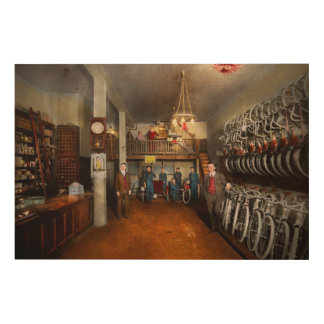 Bike - Store - Haverford Cycles 1919 Wood Wall Art