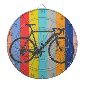 Bike Striped Multi-Color Rainbow Dartboards