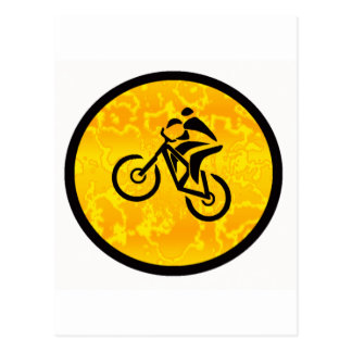 Bike Sun Dialed Postcard