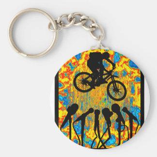 Bike Super Sonic Basic Round Button Keychain