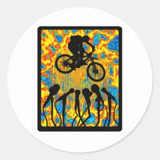 Bike Super Sonic Classic Round Sticker