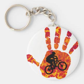 Bike Sure Grip Basic Round Button Keychain