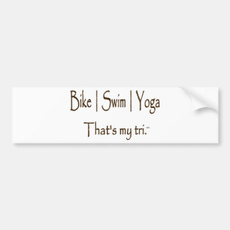 Bike | Swim | Yoga Car Bumper Sticker