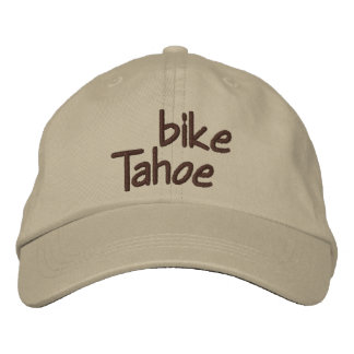 Bike Tahoe Embroidered Baseball Cap