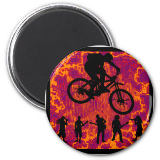 Bike The Butter 2 Inch Round Magnet