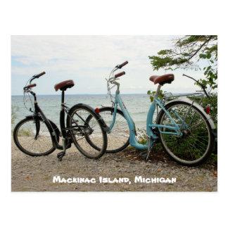 Bike the Island - Mackinac Island, Michigan Postcard