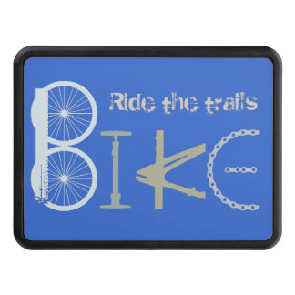 Bike the Trails Biking parts Graffiti art Hitch Cover