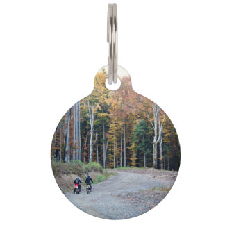 Bike Themed, Couple Of Bikers Standing With On The Pet Tags