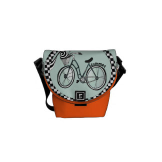 """Bike to the Beach"" messenger bag"