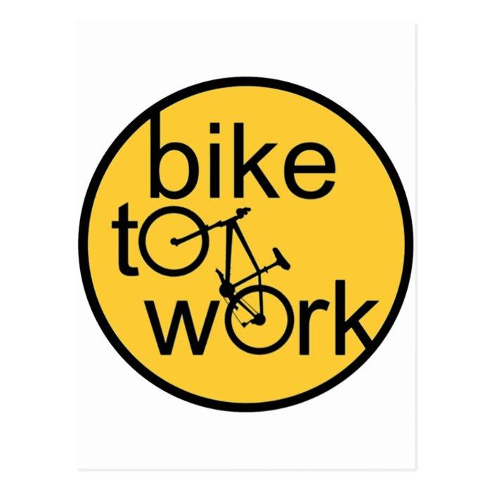 bike to work1 - Copy.png Postcard