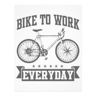 Bike To Work Everyday Custom Letterhead