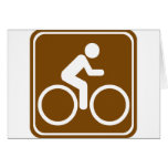 Bike Trail Highway Sign Cards