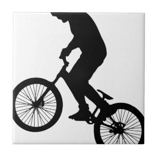 Bike Tricks Ceramic Tile