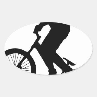 Bike Tricks Oval Sticker