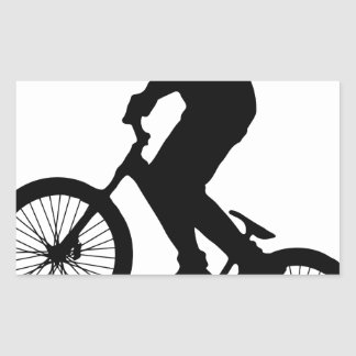 Bike Tricks Rectangular Sticker