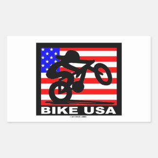 Bike USA Rectangular Sticker