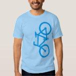 Bike, Vertical Silhouette, Blue Design T Shirt