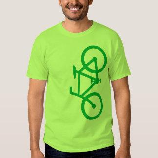 Bike, Vertical Silhouette, Green Design T-shirt