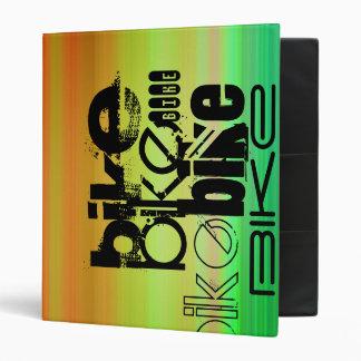 Bike; Vibrant Green, Orange, & Yellow Vinyl Binders