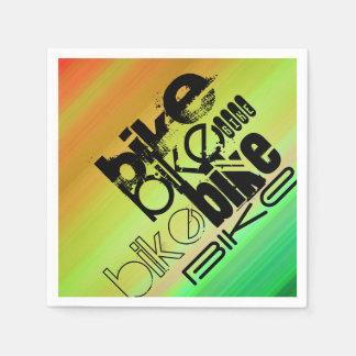 Bike; Vibrant Green, Orange, & Yellow Napkin