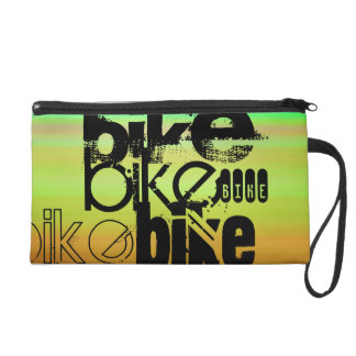 Bike; Vibrant Green, Orange, & Yellow Wristlet